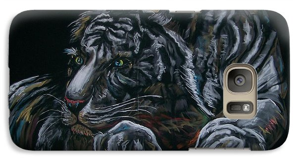 Galaxy Case featuring the pastel Siberian Tiger by Peter Suhocke