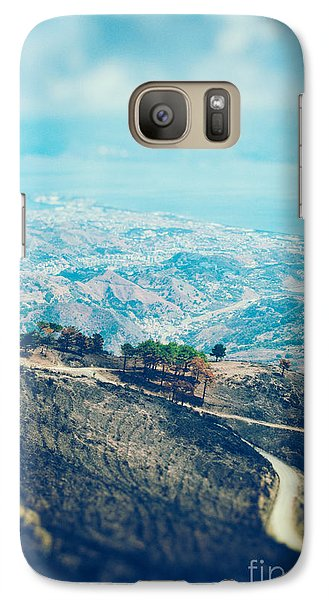 Galaxy Case featuring the photograph Sicilian Land After Fire by Silvia Ganora