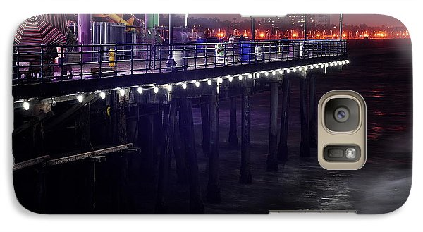 Galaxy Case featuring the digital art Side Of The Pier - Santa Monica by Gandz Photography