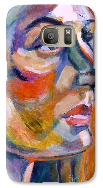 Galaxy Case featuring the painting Sideview Of A Woman by Stan Esson