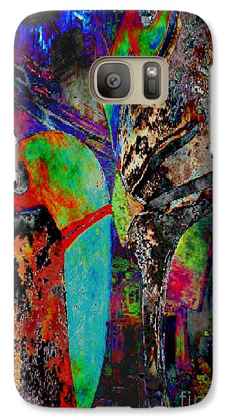 Galaxy Case featuring the digital art Sie Versucht Ihn Zu Kuessen - She Tries To Kiss Him by Mojo Mendiola