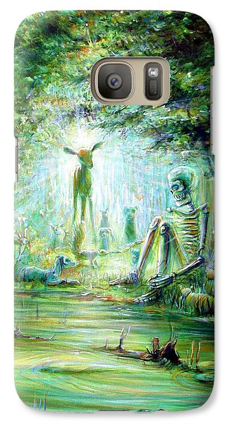 Galaxy Case featuring the painting Siempre Conmigo by Heather Calderon