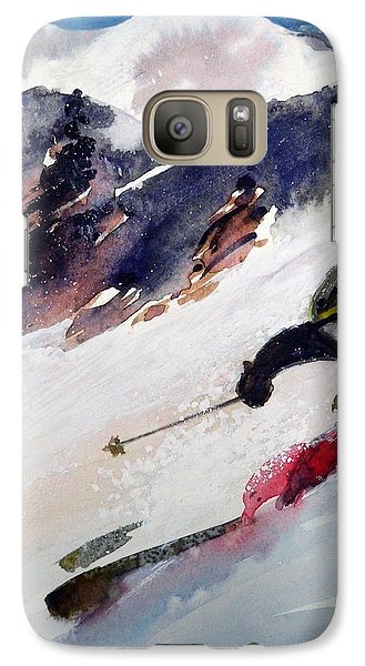 Galaxy Case featuring the painting Sierra At Tahoe by Ed  Heaton