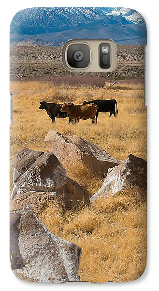 Galaxy Case featuring the photograph Sierra Cattle by Jan Davies
