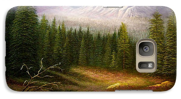 Galaxy Case featuring the painting Sierra Spring Storm by Loxi Sibley