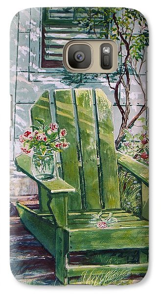Galaxy Case featuring the painting Siesta by Joy Nichols