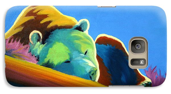 Galaxy Case featuring the painting Siesta Time by Nancy Jolley