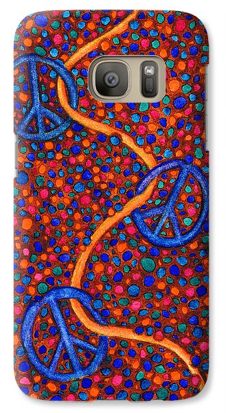 Galaxy Case featuring the painting Signs Of Peace by Janice Dunbar