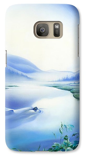 Galaxy Case featuring the painting Silence by Anna Ewa Miarczynska