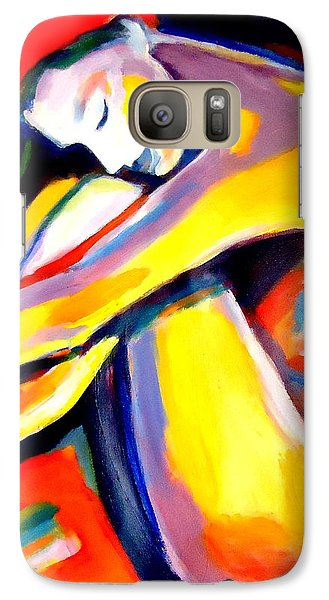 Galaxy Case featuring the painting Silence by Helena Wierzbicki