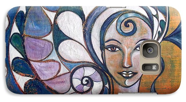 Galaxy Case featuring the painting Silence by Julie  Hoyle