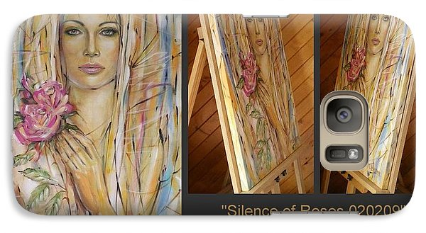 Galaxy Case featuring the painting Silence Of Roses 020209 by Selena Boron