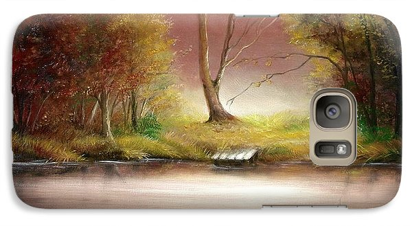Galaxy Case featuring the painting Silence by Sorin Apostolescu