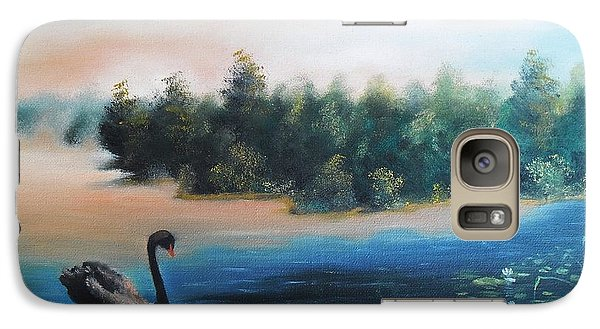 Galaxy Case featuring the painting Silence by Vesna Martinjak