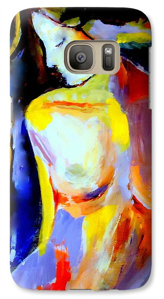 Galaxy Case featuring the painting Silent Glow by Helena Wierzbicki