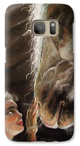 Galaxy Case featuring the pastel Silent Love by Peter Suhocke