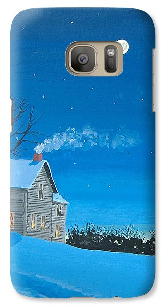 Galaxy Case featuring the painting Silent Night by Norm Starks
