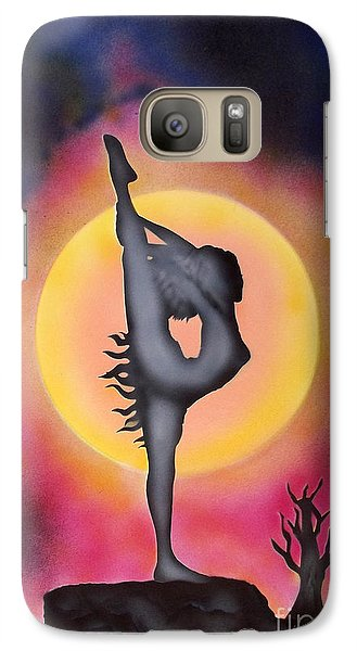 Galaxy Case featuring the painting Silhouette by Kenneth Clarke