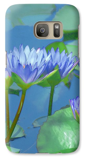 Galaxy Case featuring the photograph Silken Lilies by Holly Kempe