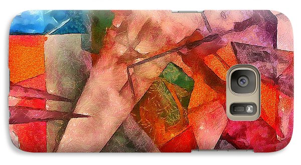 Galaxy Case featuring the digital art Silky Abstract by Catherine Lott