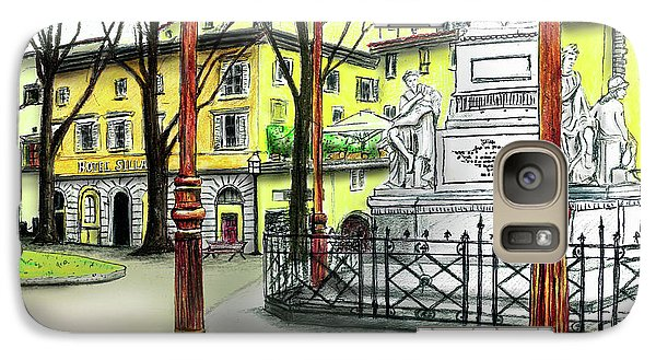 Galaxy Case featuring the painting Silla Hotel Piazza Demidoff Florence by Albert Puskaric