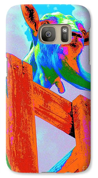 Galaxy Case featuring the photograph Silly Billy In Many Colors Photo Impressionism by Annie Zeno