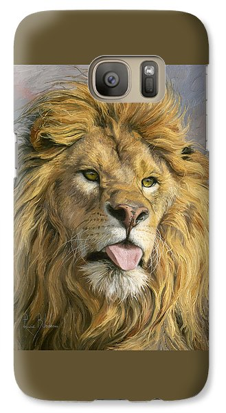 Lion Galaxy S7 Case - Silly Face by Lucie Bilodeau