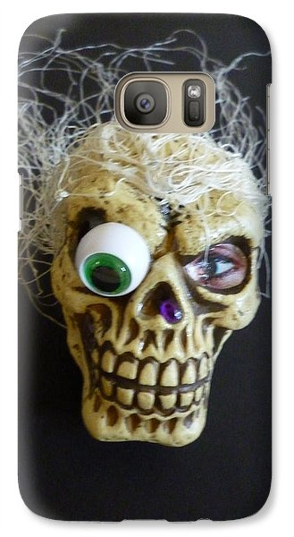 Galaxy Case featuring the mixed media Silly Skull by Douglas Fromm