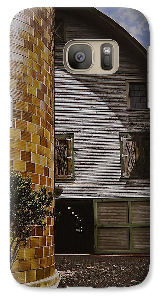 Galaxy Case featuring the painting Silo And Horse Stable by Debra Crank