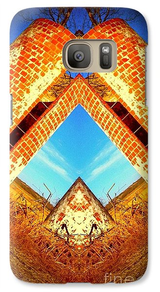 Galaxy Case featuring the photograph Silo Pyramid by Karen Newell