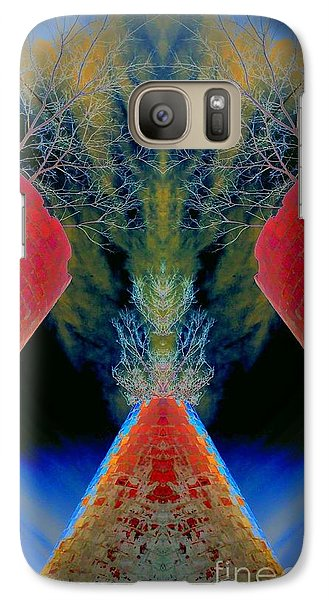 Galaxy Case featuring the photograph Silo Sky by Karen Newell