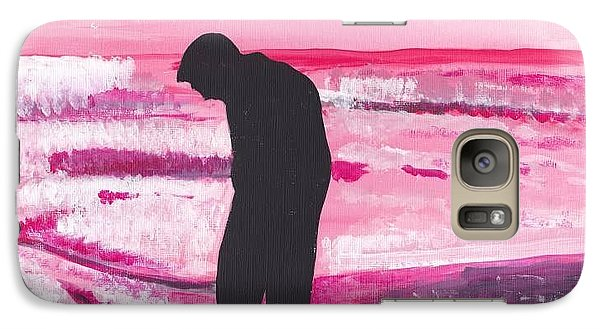 Galaxy Case featuring the painting Silouette by Audrey Pollitt