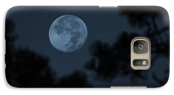 Galaxy Case featuring the photograph Silver Cast Of Harvest Moon by Jeremy McKay