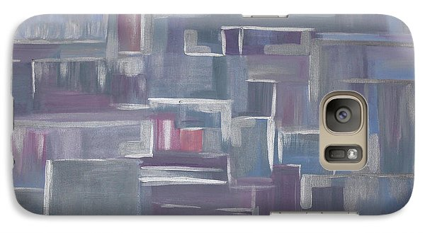 Galaxy Case featuring the painting Silver Elegance by Stacey Zimmerman