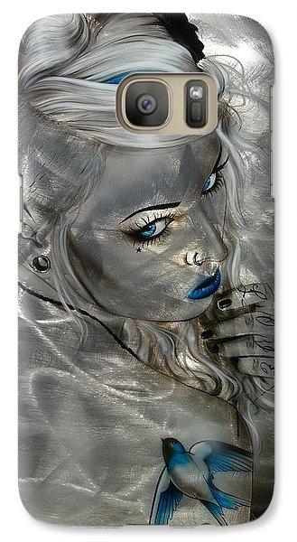 Swallow Galaxy S7 Case - Silver Flight by Christian Chapman Art