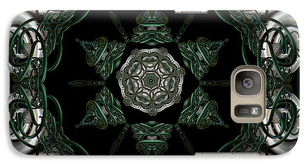 Galaxy Case featuring the digital art Silver Horns On The Skellig by Rhonda Strickland