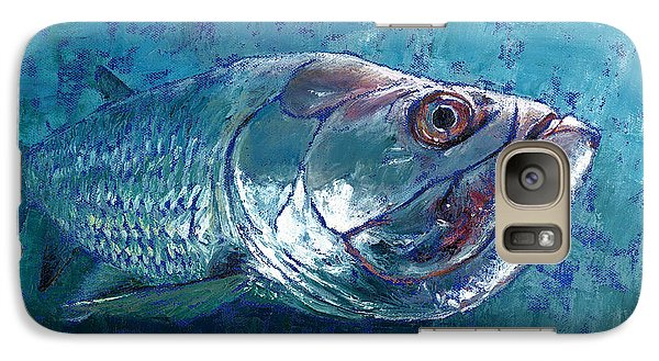 Galaxy Case featuring the painting Silver King Tarpon by Pam Talley