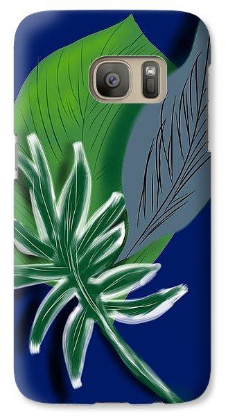 Galaxy Case featuring the digital art Silver Leaf And Fern II by Christine Fournier