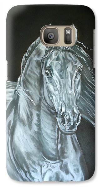 Galaxy Case featuring the painting Silver by Leena Pekkalainen