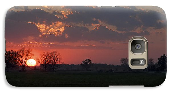 Galaxy Case featuring the photograph Silver Lining - Red Sunset Art Print by Jane Eleanor Nicholas