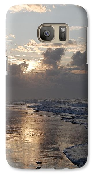 Galaxy Case featuring the photograph Silver Sunrise by Mim White
