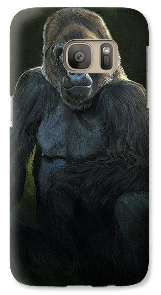 Gorilla Galaxy S7 Case - Silverback by Aaron Blaise