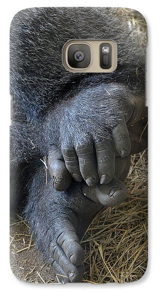 Galaxy Case featuring the photograph Silverback Toes by Robert Meanor