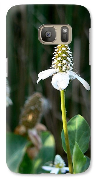 Galaxy Case featuring the photograph Simple Flower by Laurel Powell