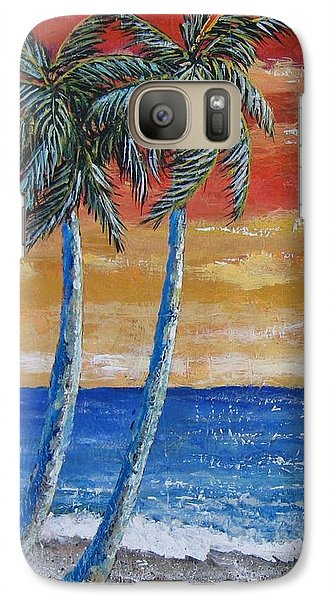 Galaxy Case featuring the painting Simple Pleasure by Suzanne Theis