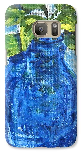 Galaxy Case featuring the painting Simple Greens by Reina Resto