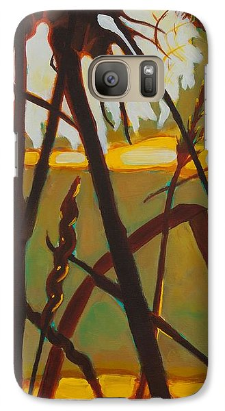Galaxy Case featuring the painting Simplicity Of Light by Janet McDonald