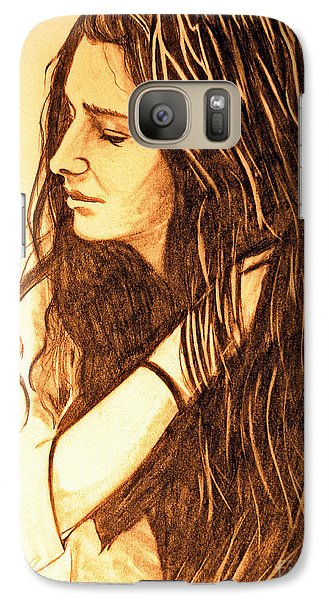 Galaxy Case featuring the drawing Simplicty by Justin Moore