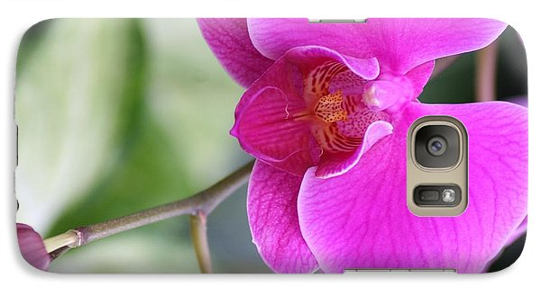 Galaxy Case featuring the photograph Simply Delicate Pink Orchid by Mary Lou Chmura