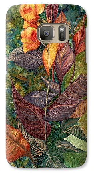 Galaxy Case featuring the painting Simply Flowers by Yolanda Raker